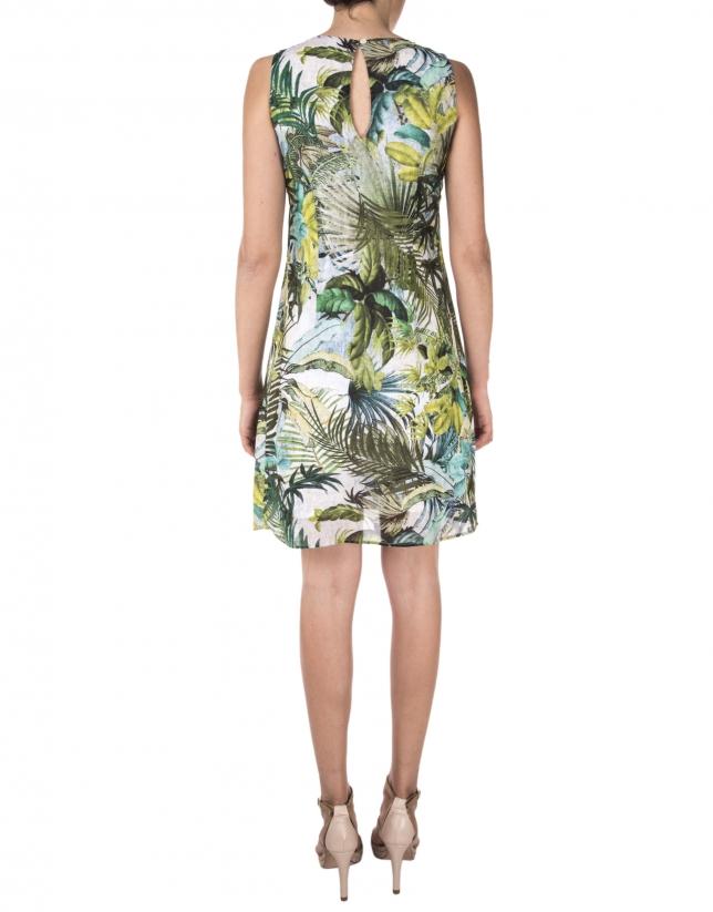 Tropical print dress