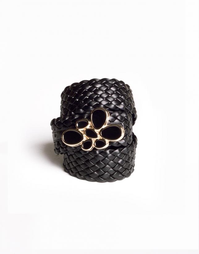 Black braided belt