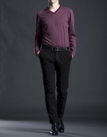 Burgundy striped t-shirt