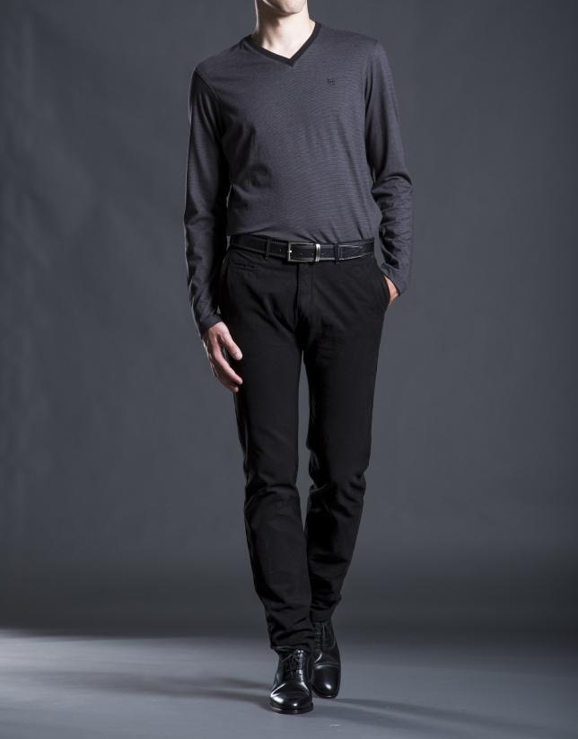 Camiseta rayas negro