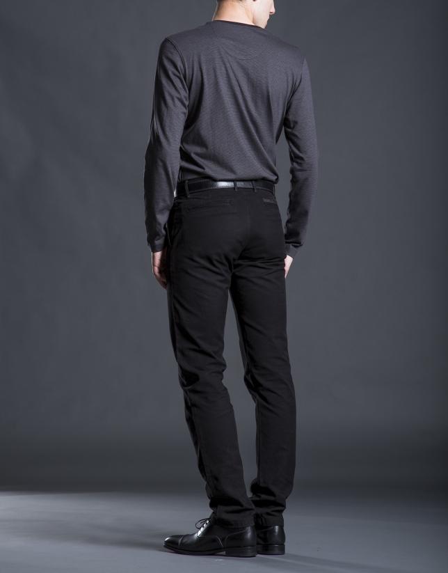 Tee-shirt à rayures noir
