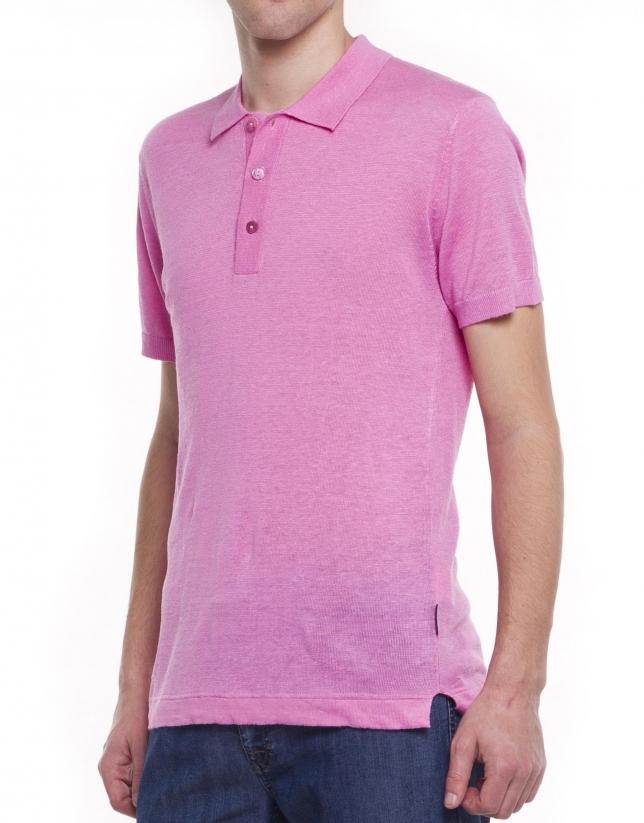 Knit polo shirt
