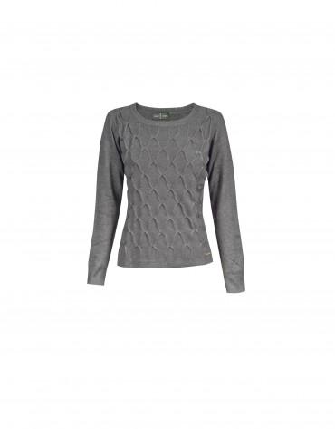 Grey round neck pullover