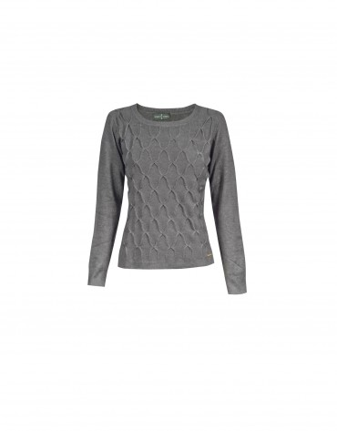 Jersey gris cuello redondo