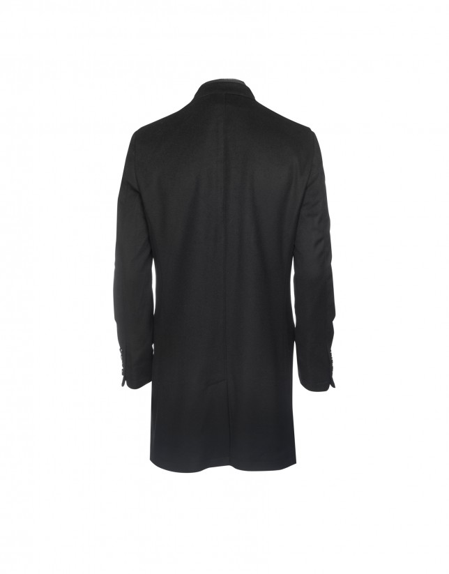 Wool and cashmere black coat