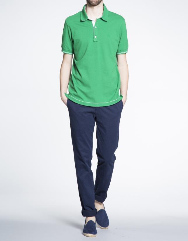Green pique top