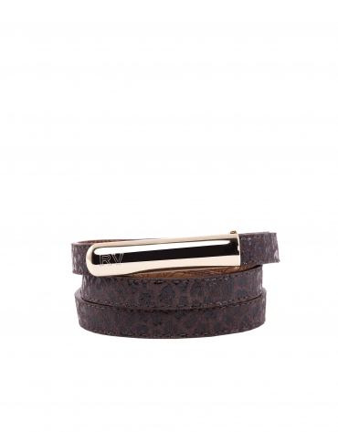 Purple snakeskin belt