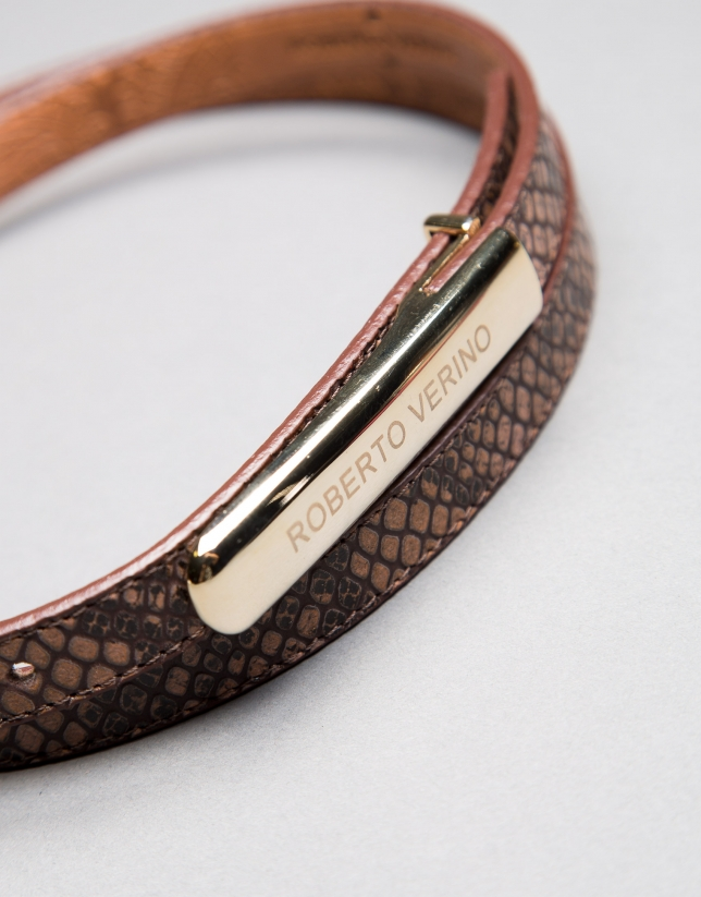 Narrow brown belt