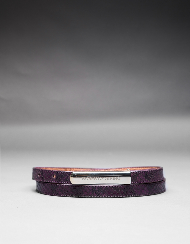 Narrow purple belt