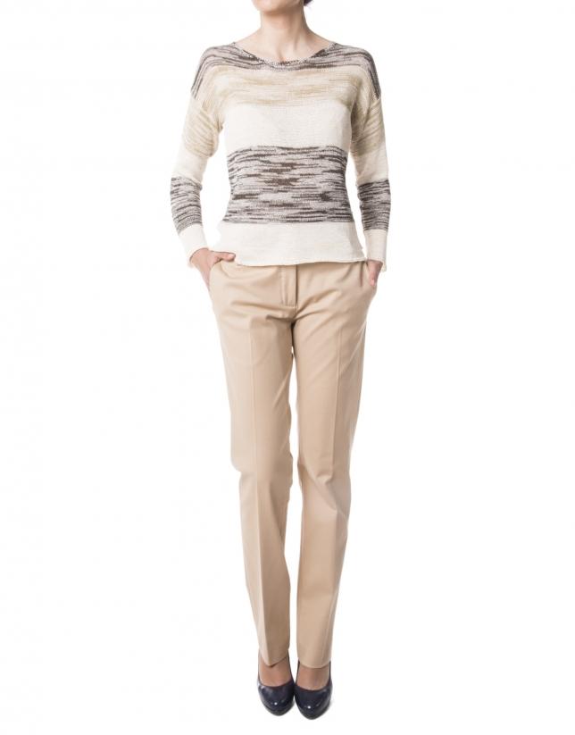Pantalon droit camel