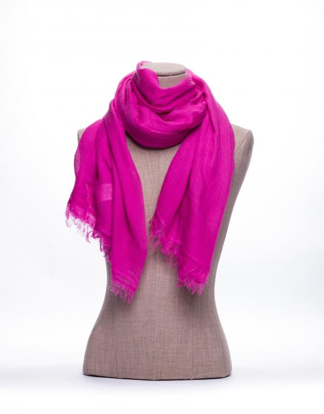 Foulard liso en rosa
