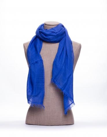 Foulard liso en azul