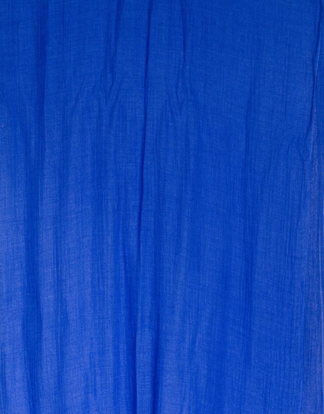 Étole unie bleu