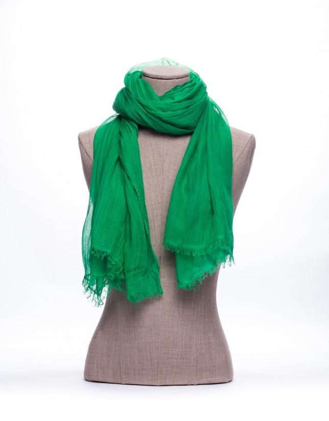 Foulard liso en verde