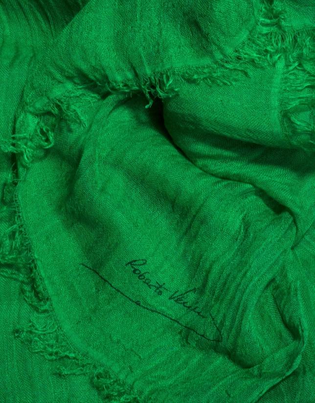 Étole unie vert