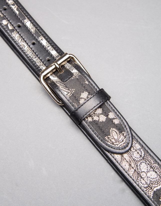 Black jacquard belt