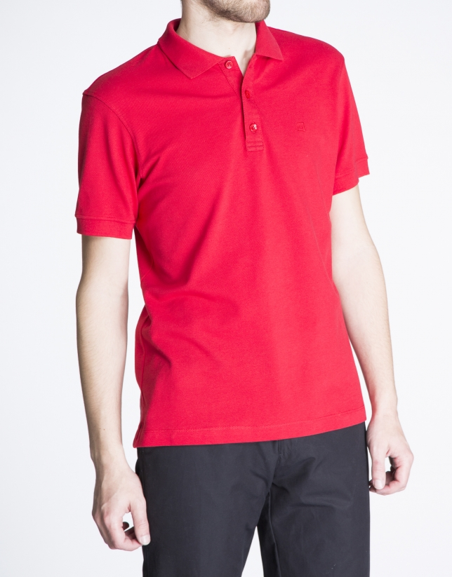 Red pique top