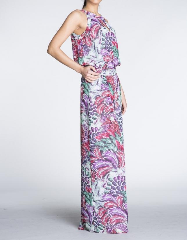 Salopette motif floral