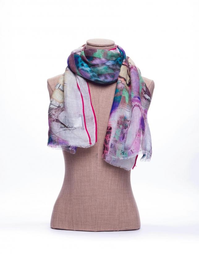 Ballerina print scarf