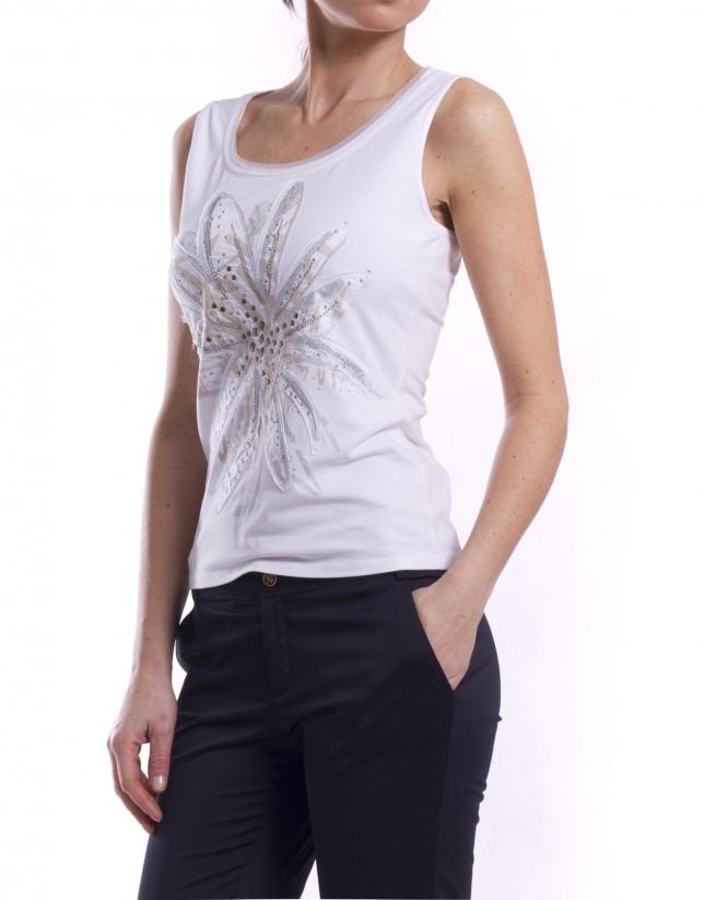 Camiseta sisas con pedrería