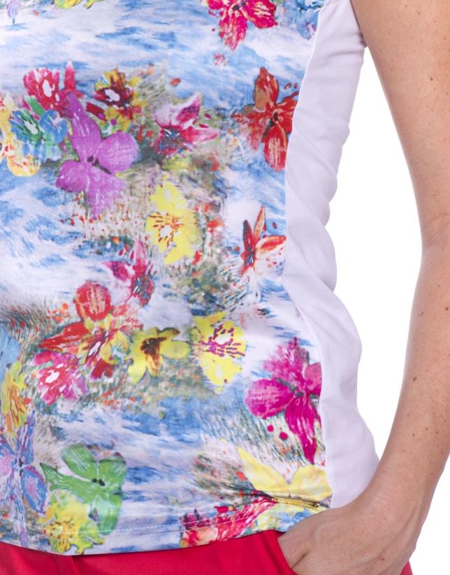 Camiseta tirantes estampado multicolor