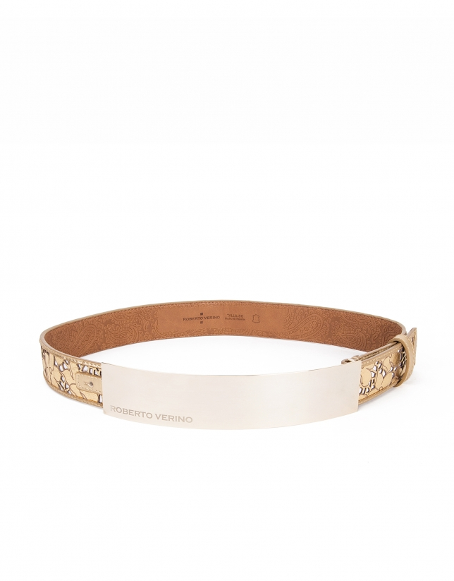 Golden die cut belt