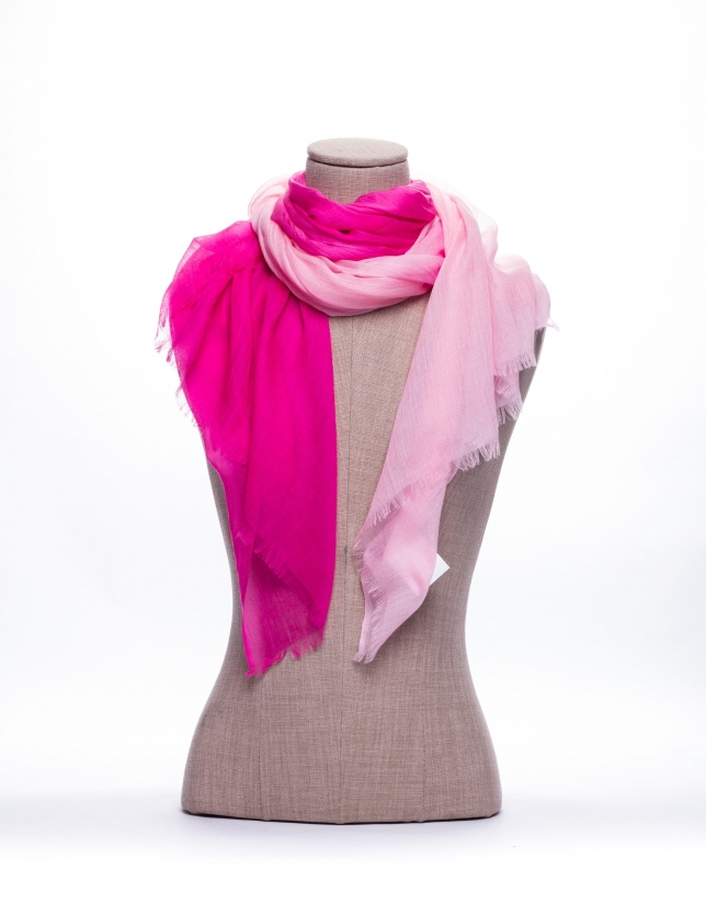 Bicolor pink scarf