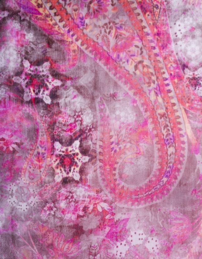 Cashmere print scarf