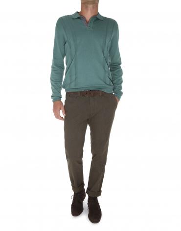 Polo uni tricot