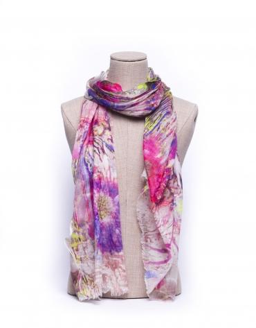 Foulard estampado floral multicolor