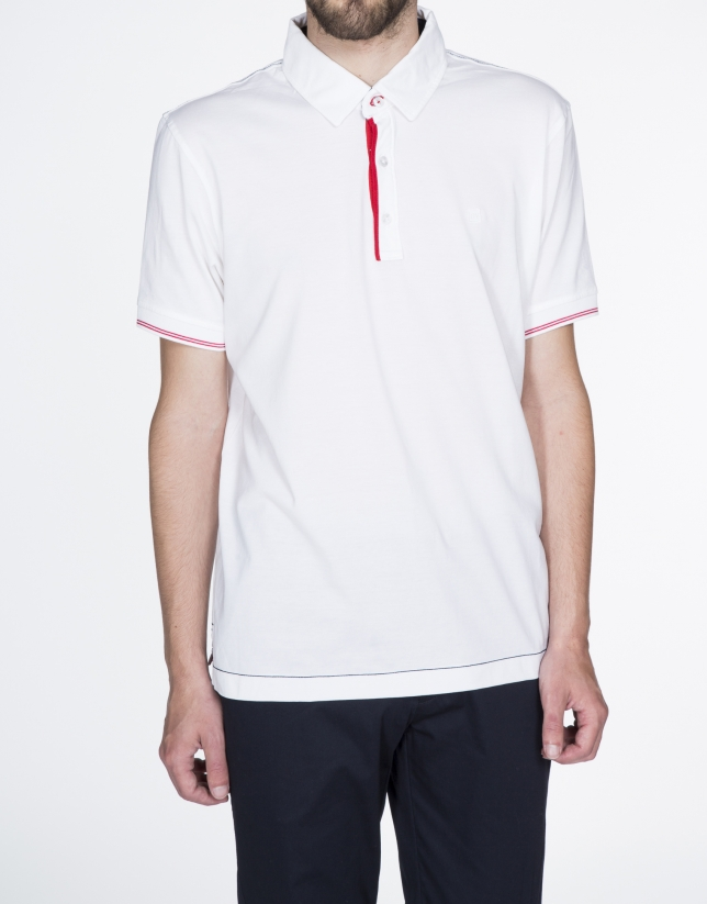 """Atlético de Madrid"" plain white cotton top"