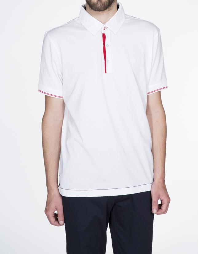 """""""Atlético de Madrid"""" plain white cotton top"""