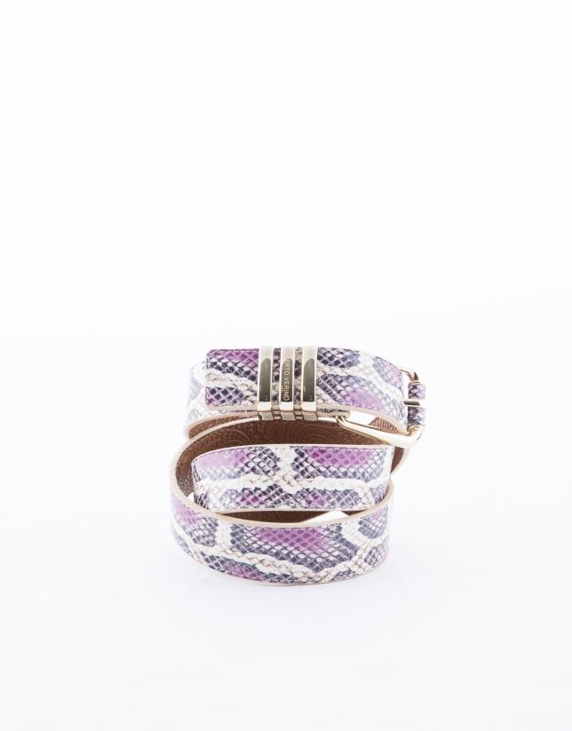 Fuchsia snake belt