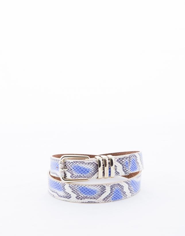 Blue snake belt