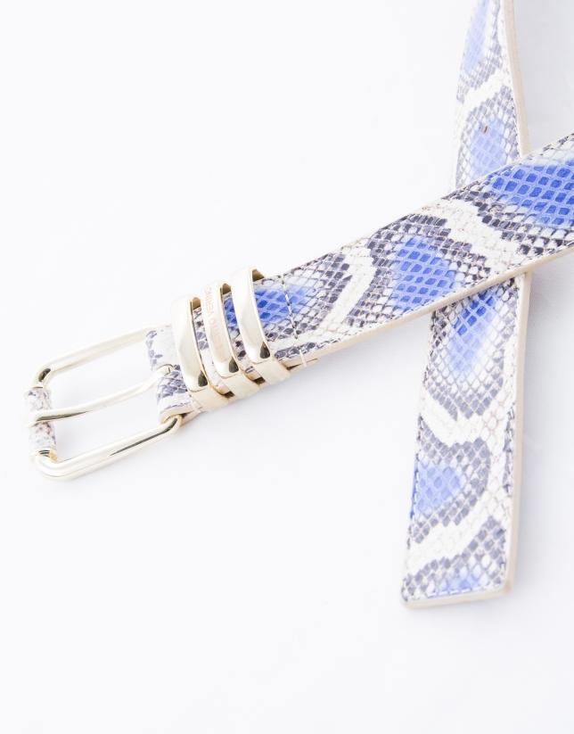 Ceinture serpent bleue