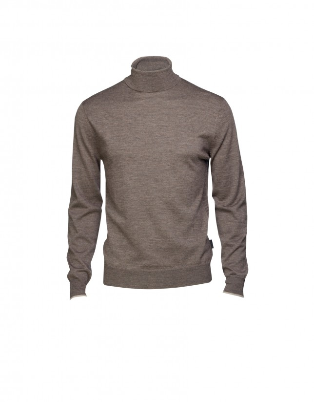 Jersey 100% lana marrón