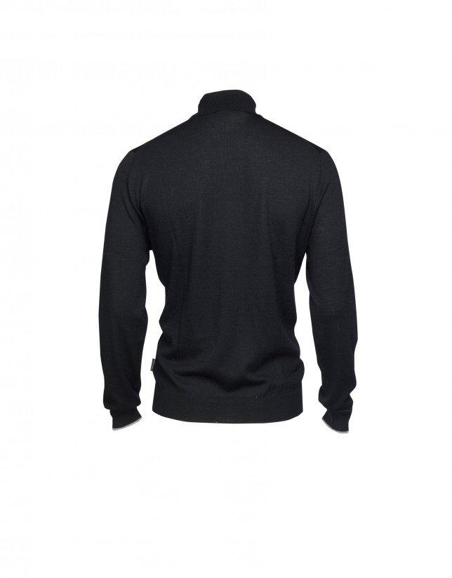 Jersey 100% lana negro