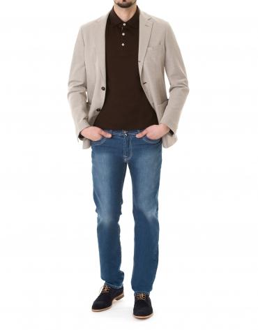 Plain polo sweater