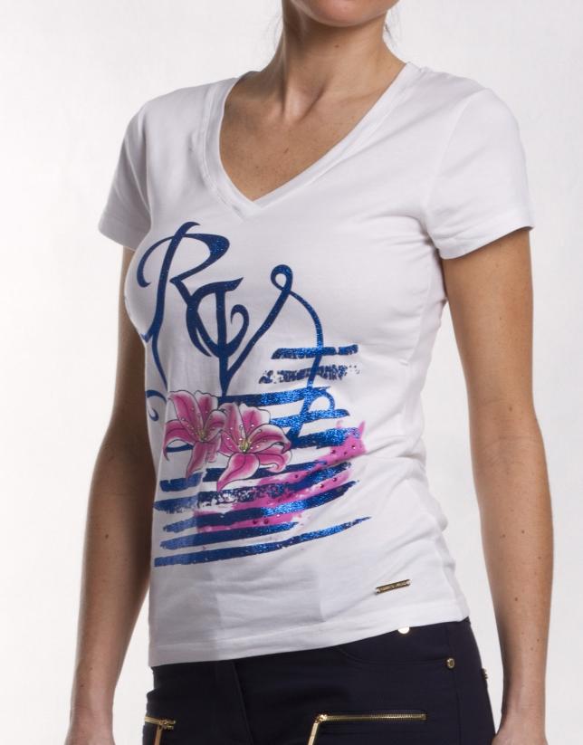 Tee-shirt col V