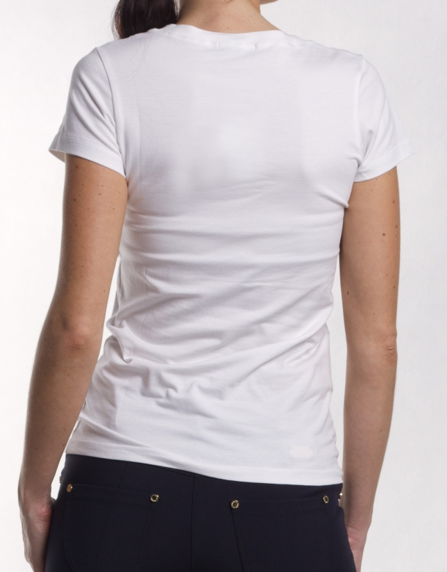 Short sleeve V- neck top