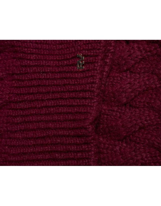 charpe tricot bordeaux