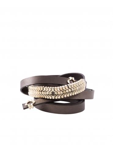 Brown tie belt