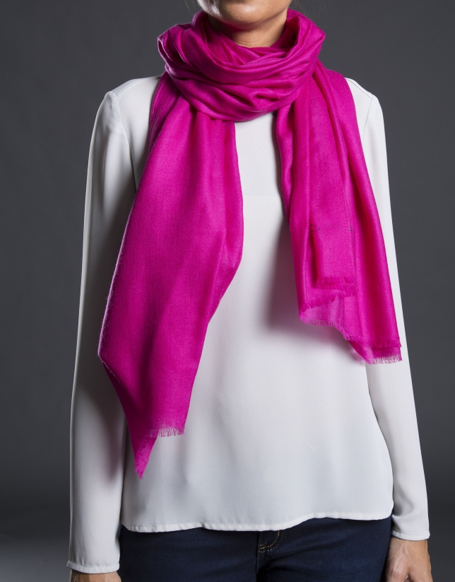 Plain pink foulard