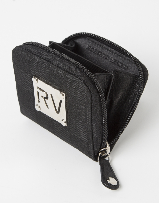 Black jaquard RV small change purse
