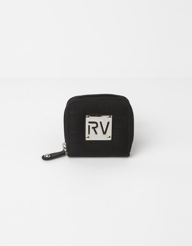 Porte-monnaie jacquard RV noire