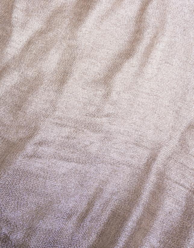 foulard beige con lurex