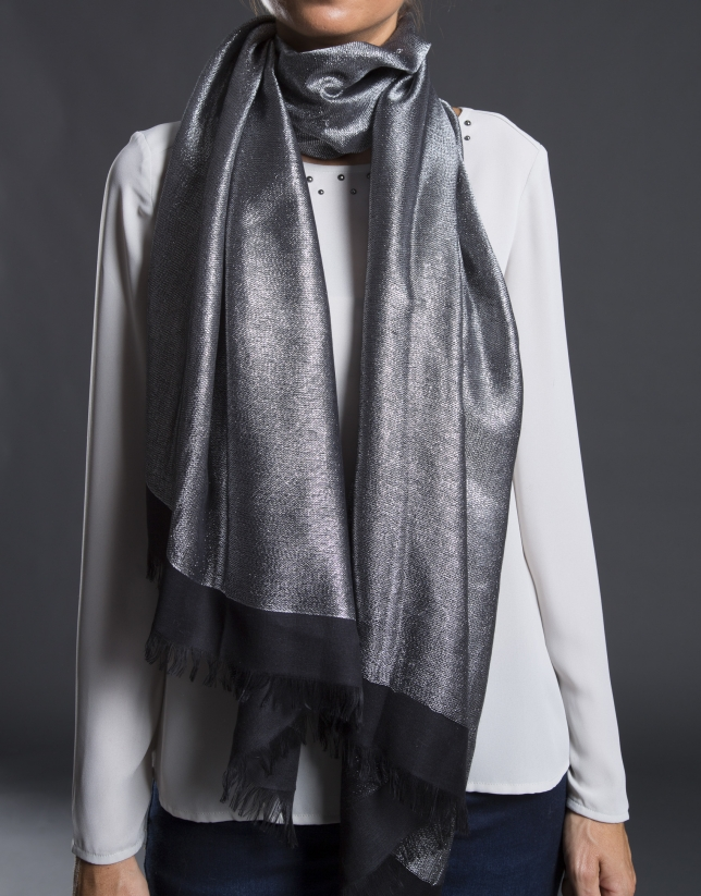 Black foulard with lurex