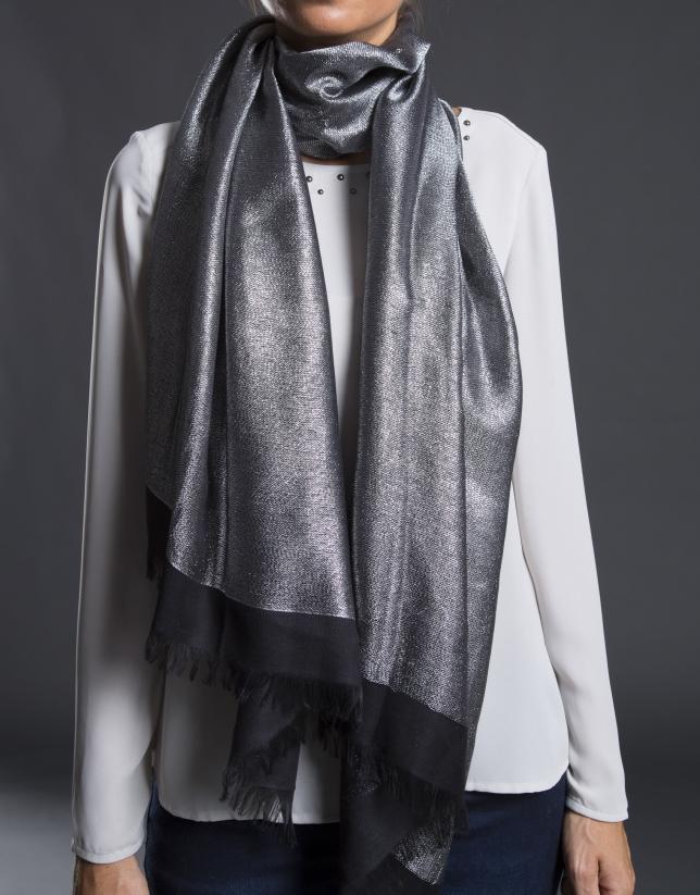 foulard negro con lurex