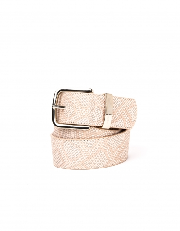 Desert design leather belt