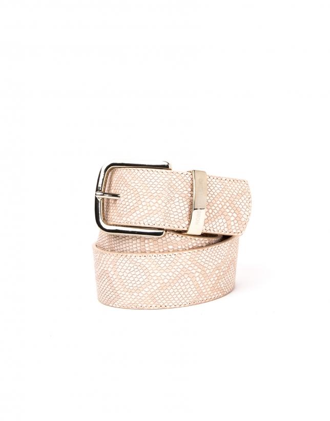 Cinturón piel color desierto